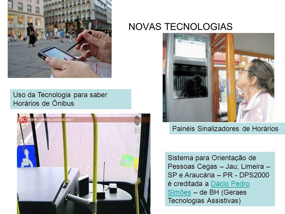 NOVAS TECNOLOGIAS Uso da Tecnologia para saber Horários de Ônibus