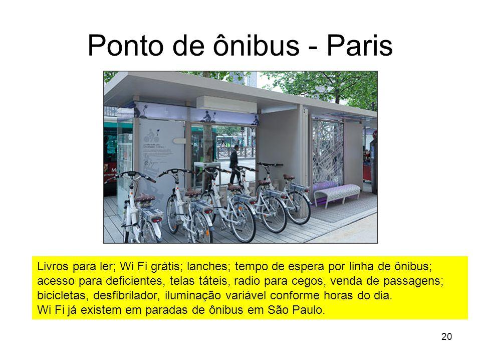 Ponto de ônibus - Paris