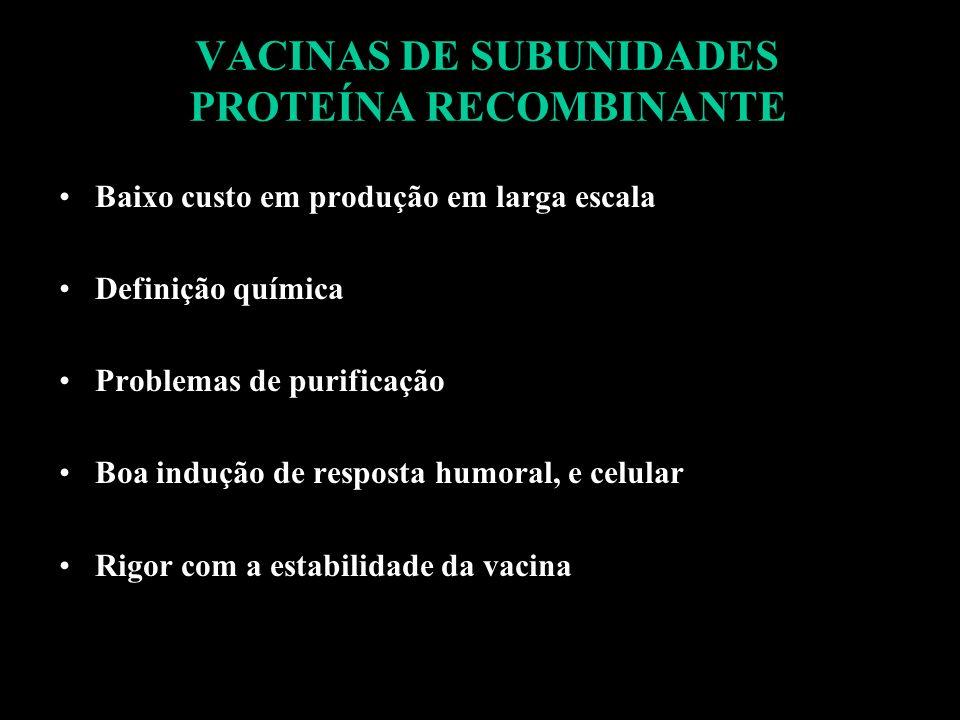 VACINAS DE SUBUNIDADES PROTEÍNA RECOMBINANTE