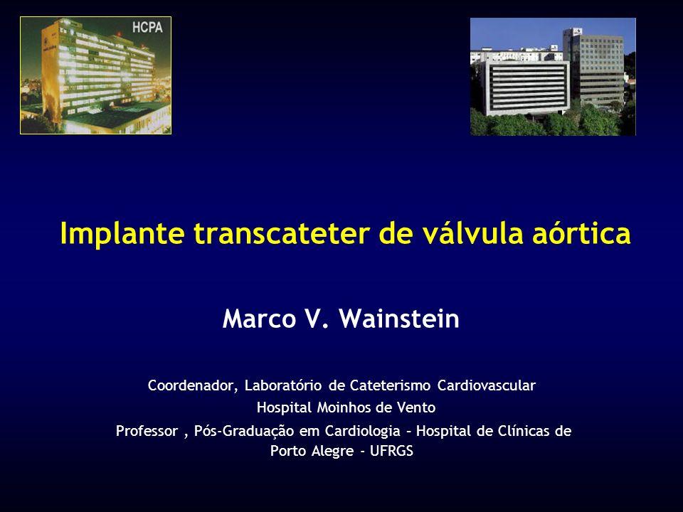 Implante transcateter de válvula aórtica