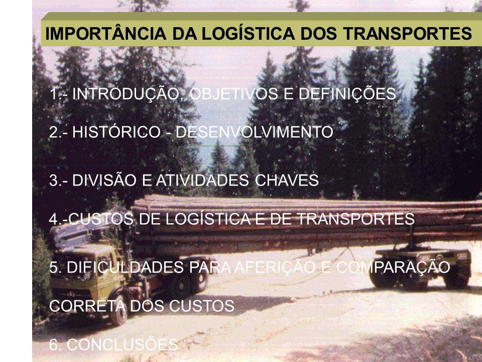 IMPORTÂNCIA DA LOGÍSTICA DOS TRANSPORTES