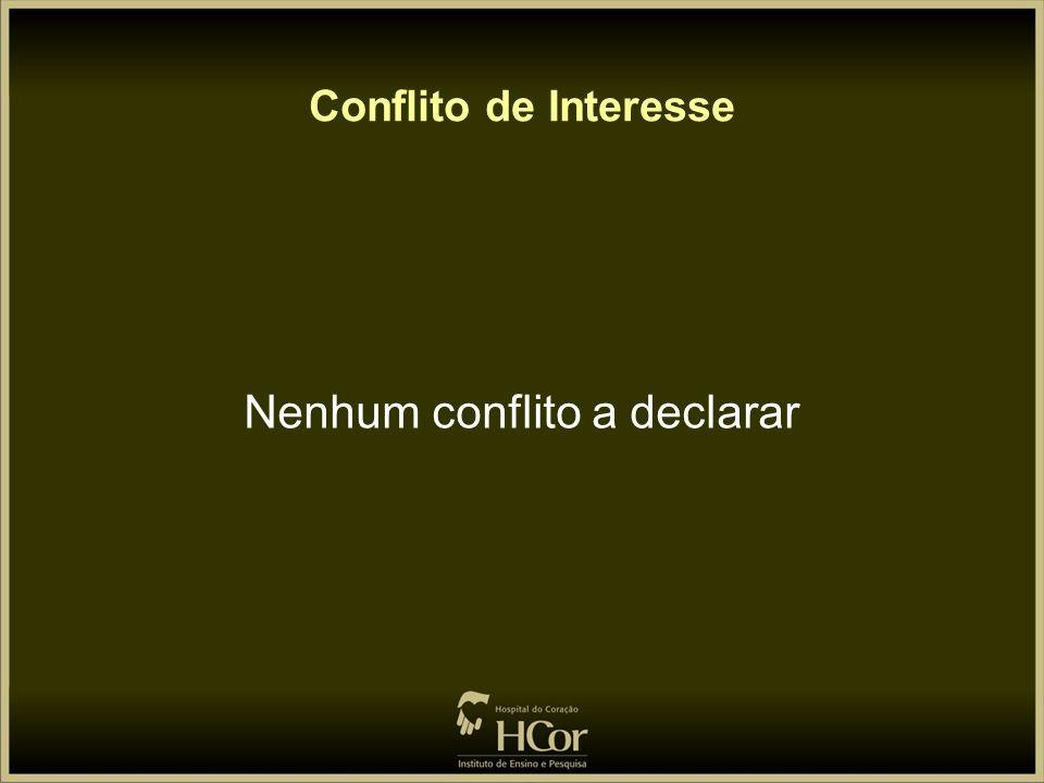 Nenhum conflito a declarar