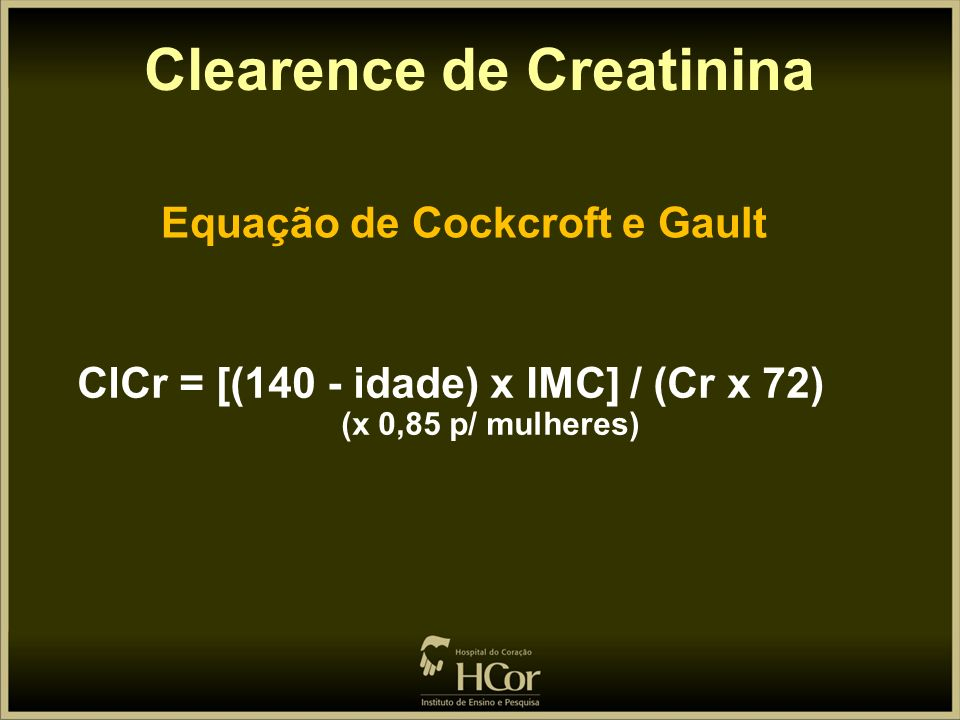 Clearence de Creatinina