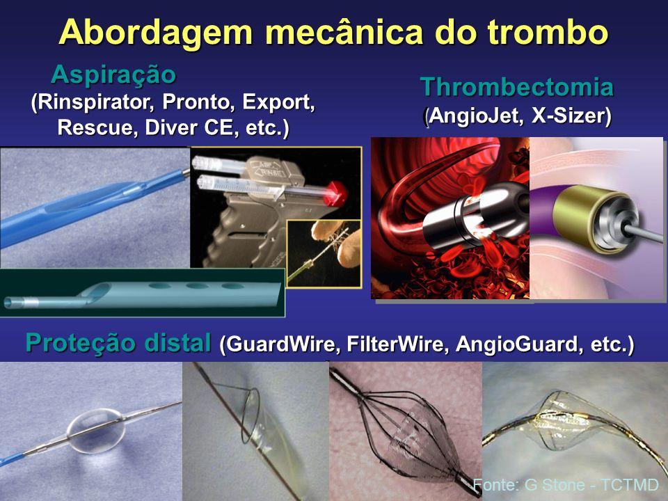 Abordagem mecânica do trombo