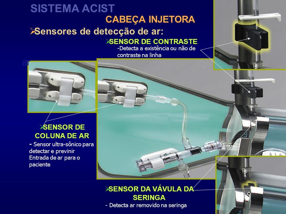 Sensores de detecção de ar: SENSOR DA VÁVULA DA SERINGA