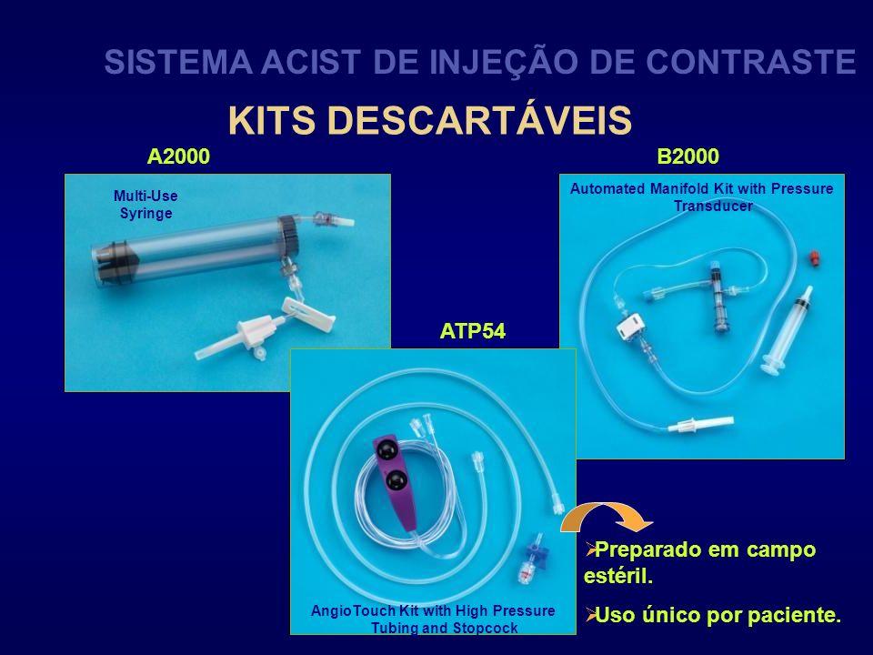 KITS DESCARTÁVEIS SISTEMA ACIST DE INJEÇÃO DE CONTRASTE A2000 B2000
