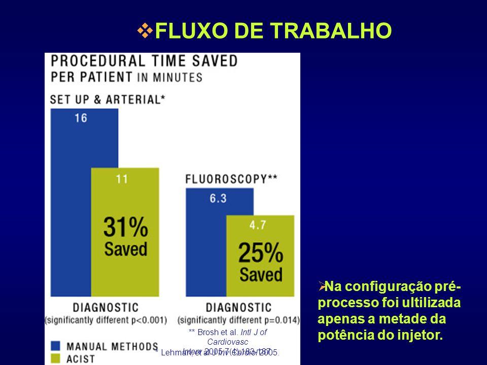 FLUXO DE TRABALHO Na configuração pré-processo foi ultilizada apenas a metade da potência do injetor.