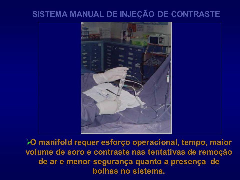 SISTEMA MANUAL DE INJEÇÃO DE CONTRASTE
