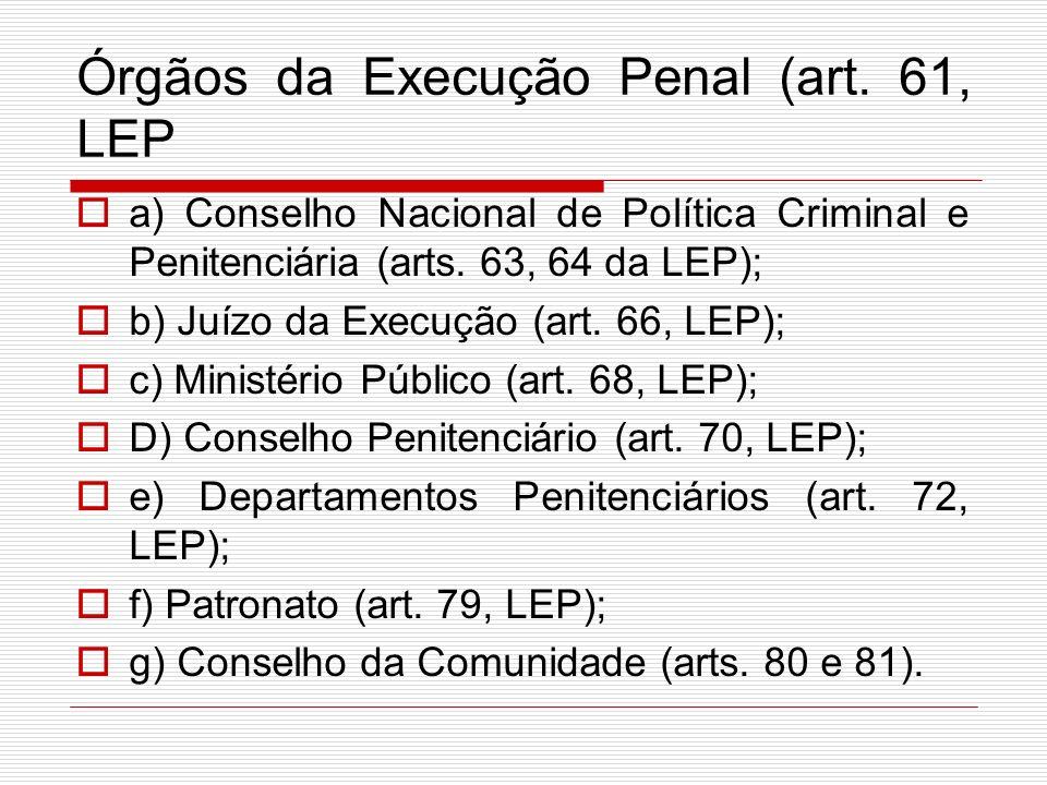 Órgãos da Execução Penal (art. 61, LEP