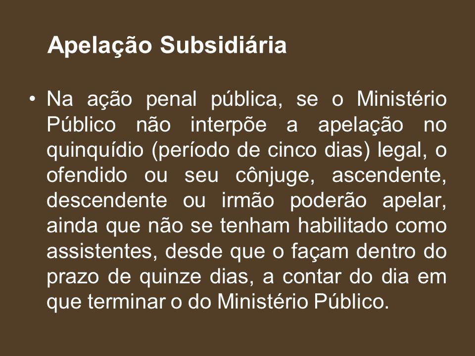Apelação Subsidiária