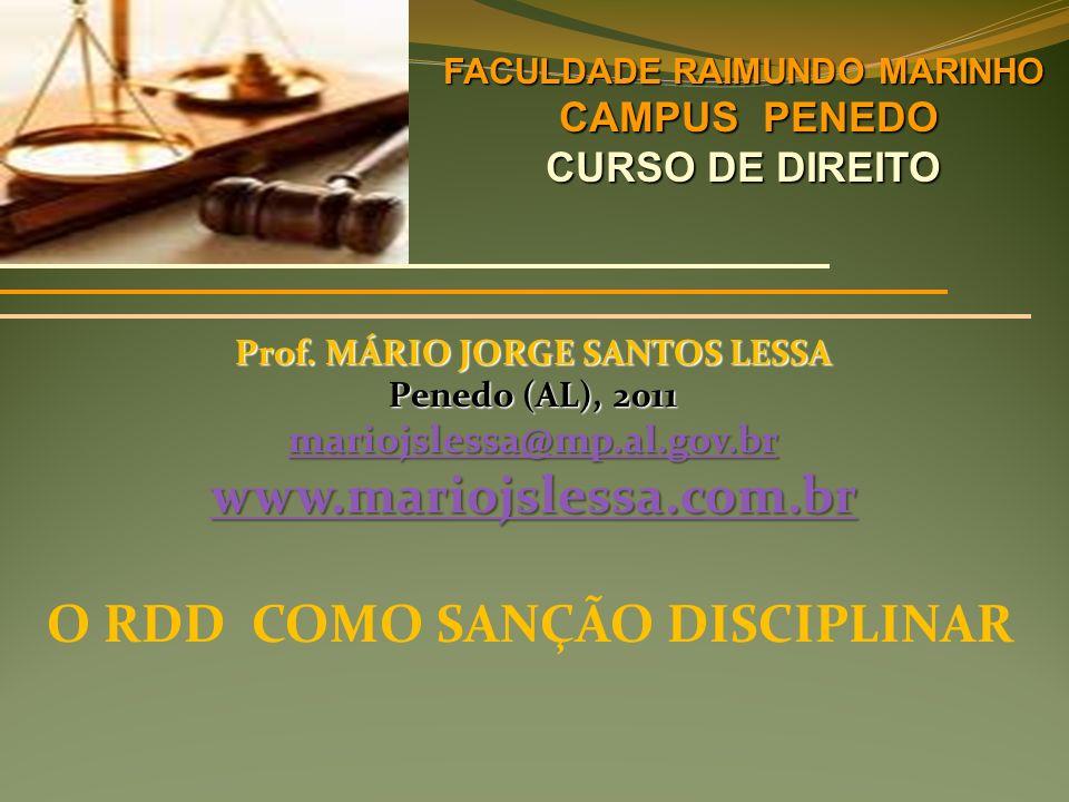 FACULDADE RAIMUNDO MARINHO Prof. MÁRIO JORGE SANTOS LESSA