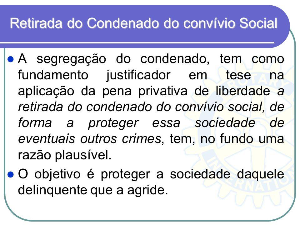 Retirada do Condenado do convívio Social
