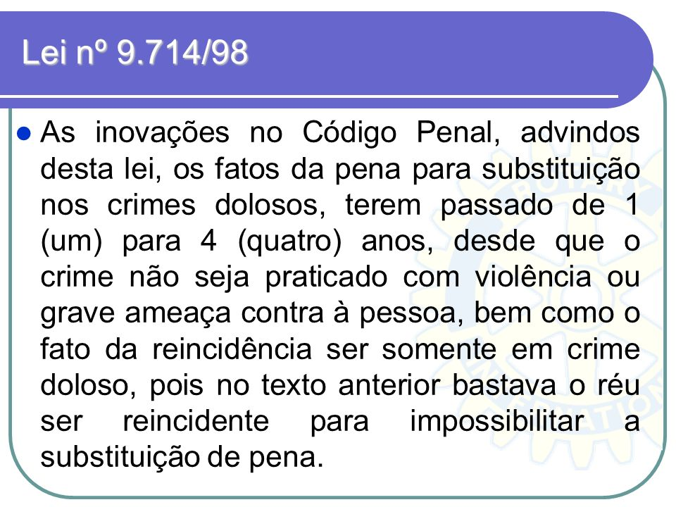 Lei nº 9.714/98