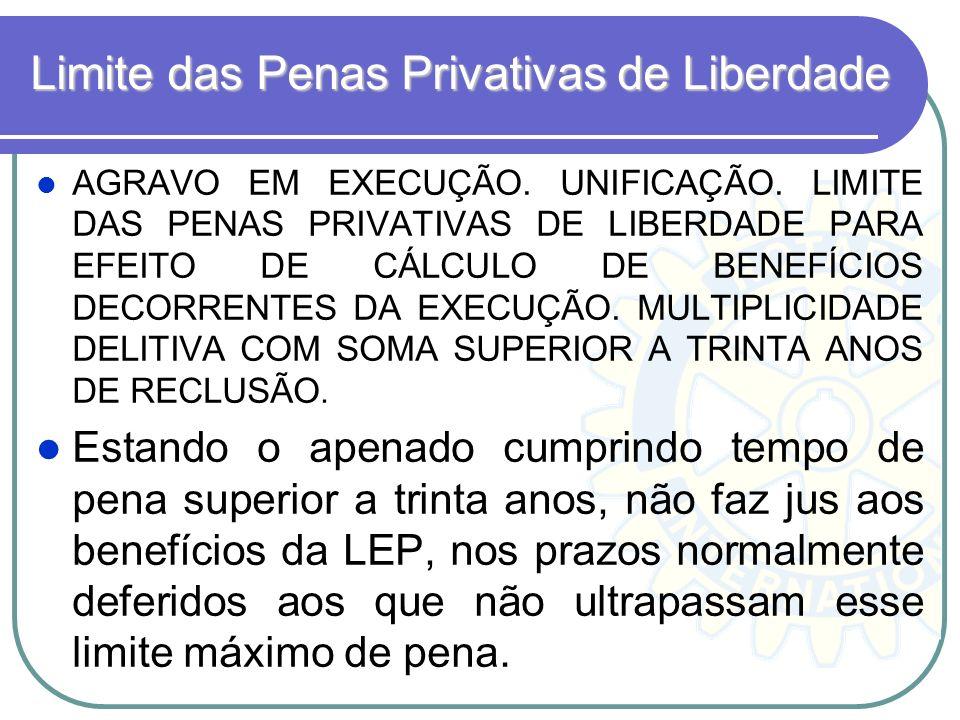 Limite das Penas Privativas de Liberdade