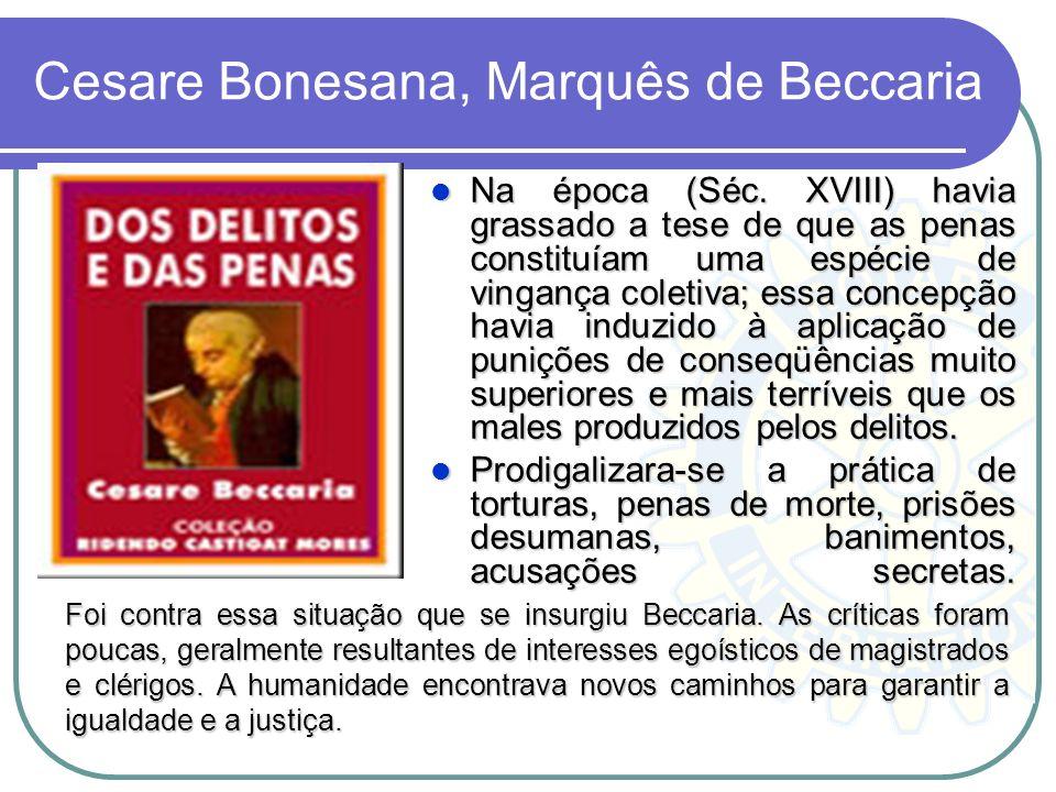 Cesare Bonesana, Marquês de Beccaria
