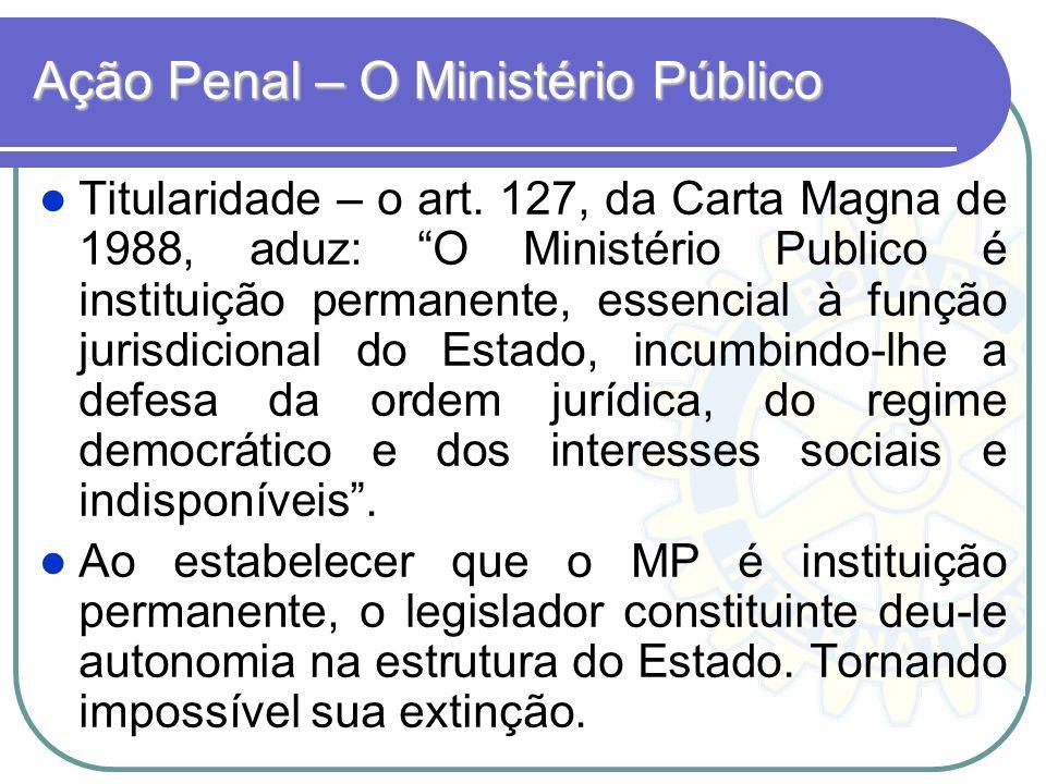 Ação Penal – O Ministério Público
