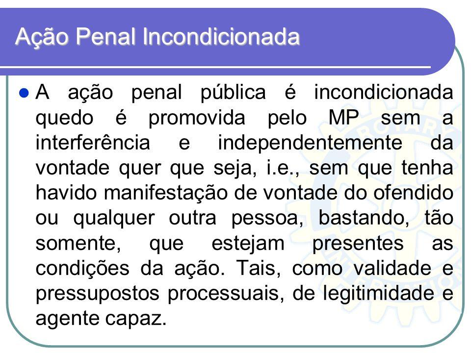 Ação Penal Incondicionada