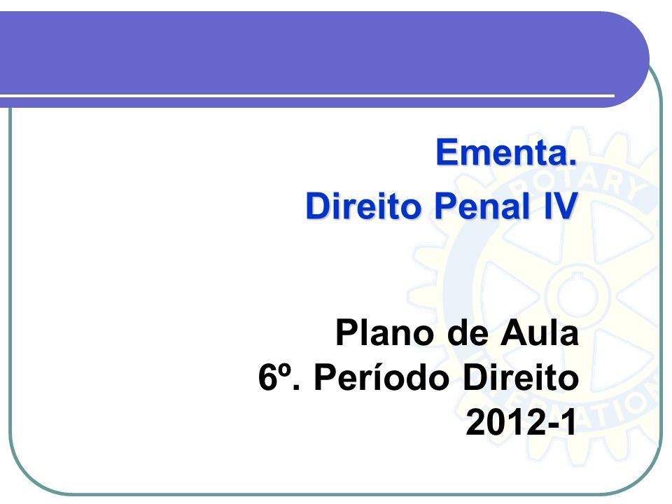 Plano de Aula 6º. Período Direito 2012-1