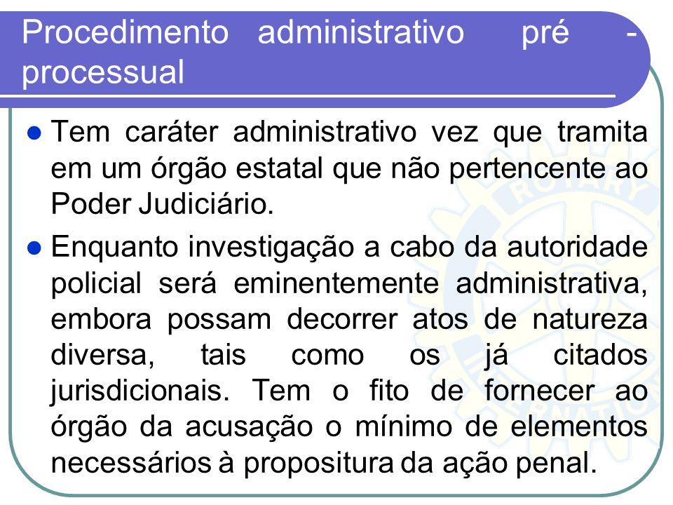 Procedimento administrativo pré -processual