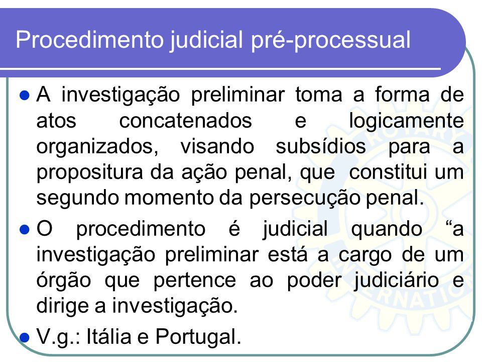 Procedimento judicial pré-processual