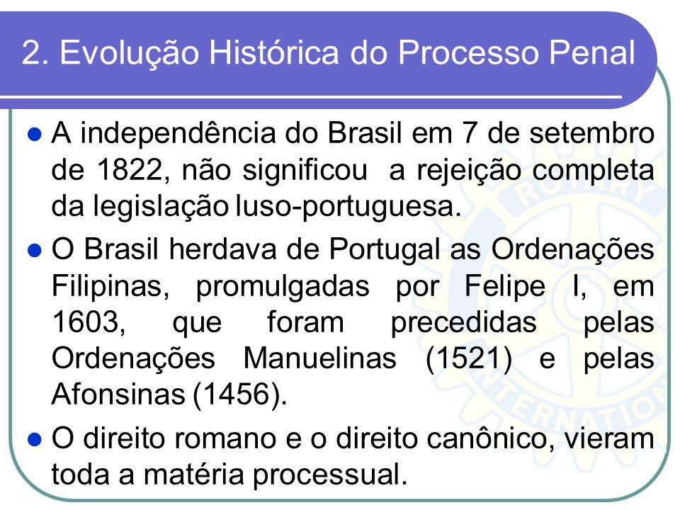 2. Evolução Histórica do Processo Penal