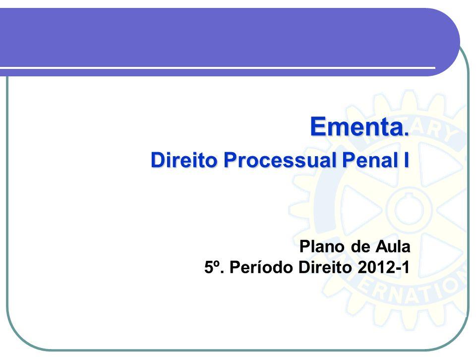 Plano de Aula 5º. Período Direito 2012-1