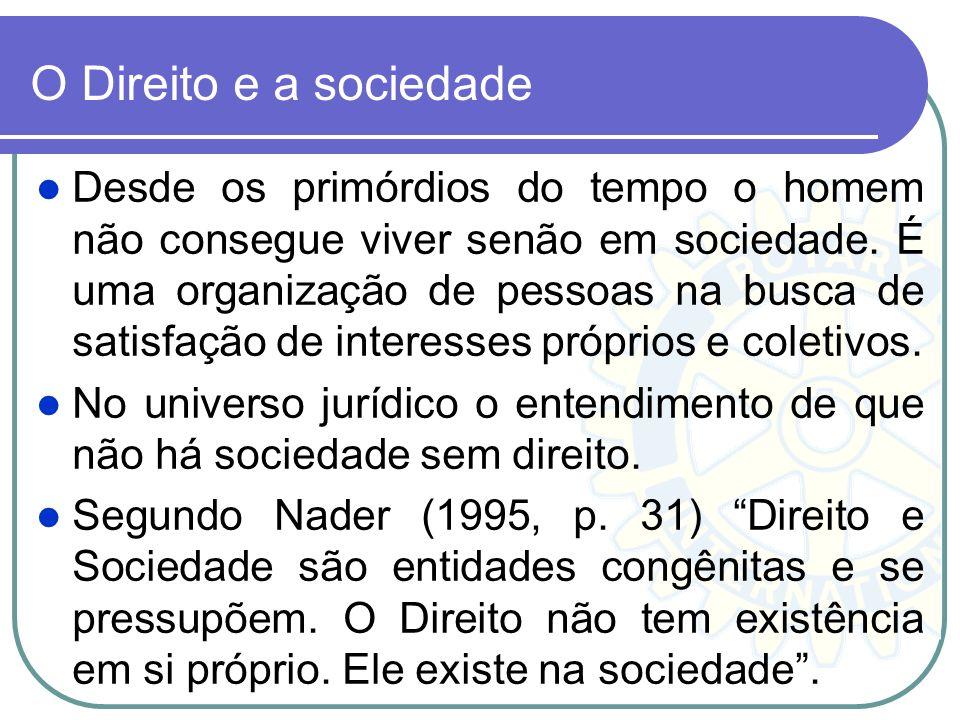 O Direito e a sociedade