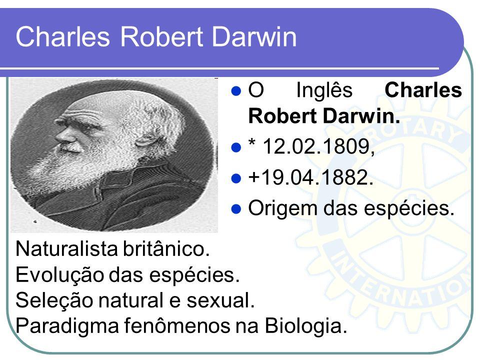 Charles Robert Darwin O Inglês Charles Robert Darwin. * 12.02.1809,