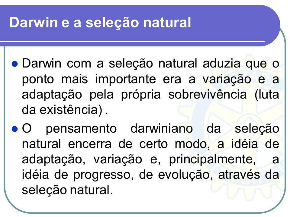 Darwin e a seleção natural