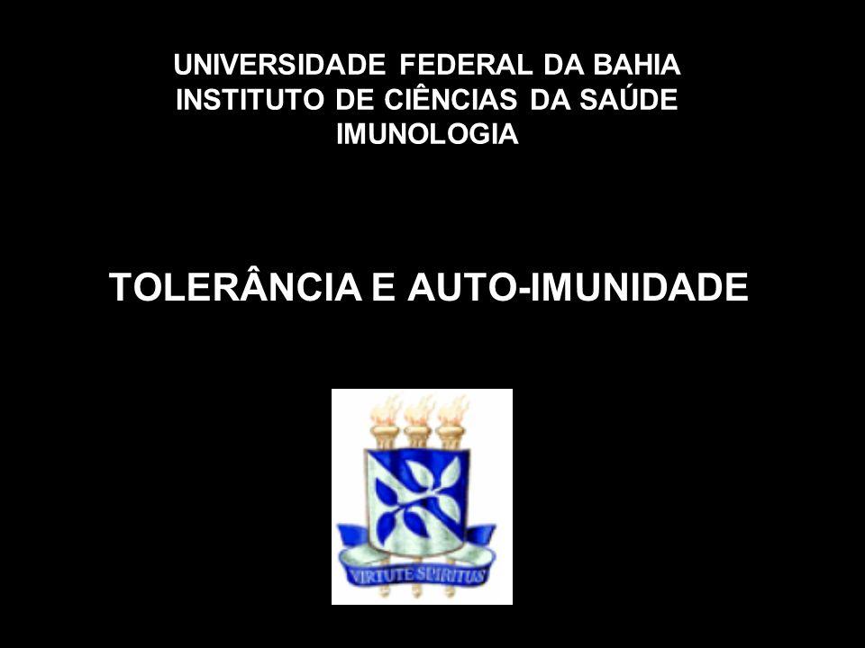 TOLERÂNCIA E AUTO-IMUNIDADE
