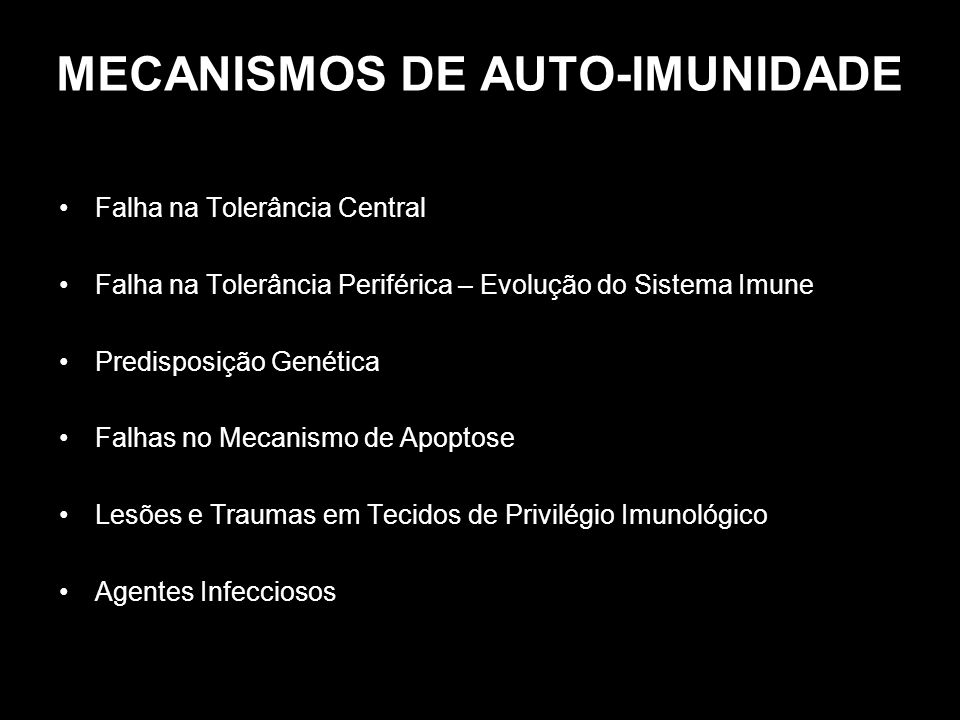 MECANISMOS DE AUTO-IMUNIDADE