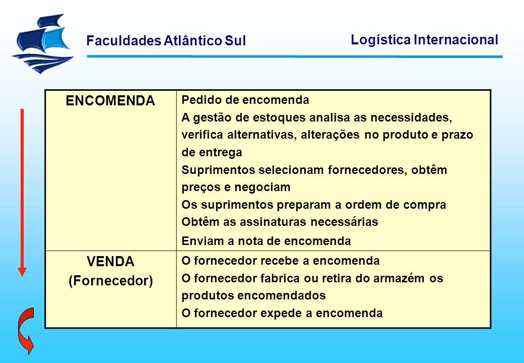 ENCOMENDA VENDA (Fornecedor)