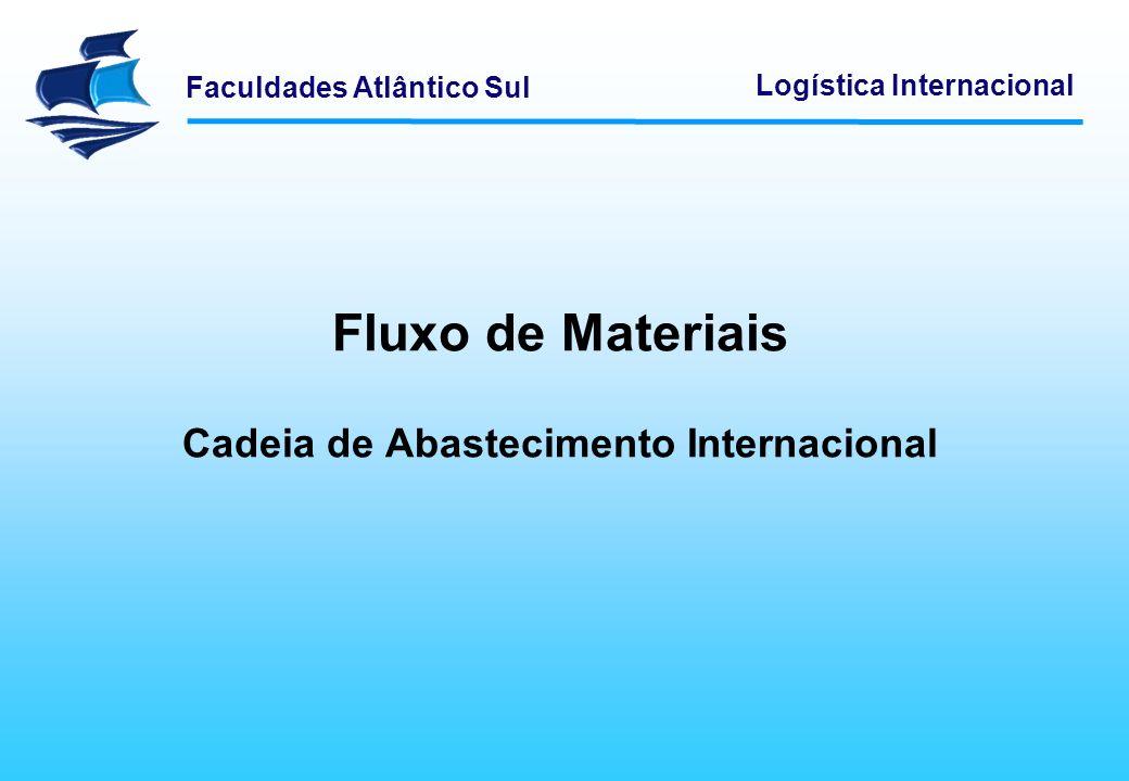 Fluxo de Materiais Cadeia de Abastecimento Internacional