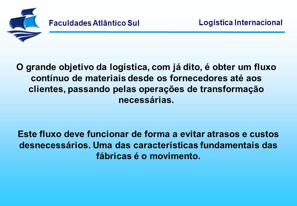 O grande objetivo da logística, com já dito, é obter um fluxo contínuo de materiais desde os fornecedores até aos clientes, passando pelas operações de transformação necessárias.