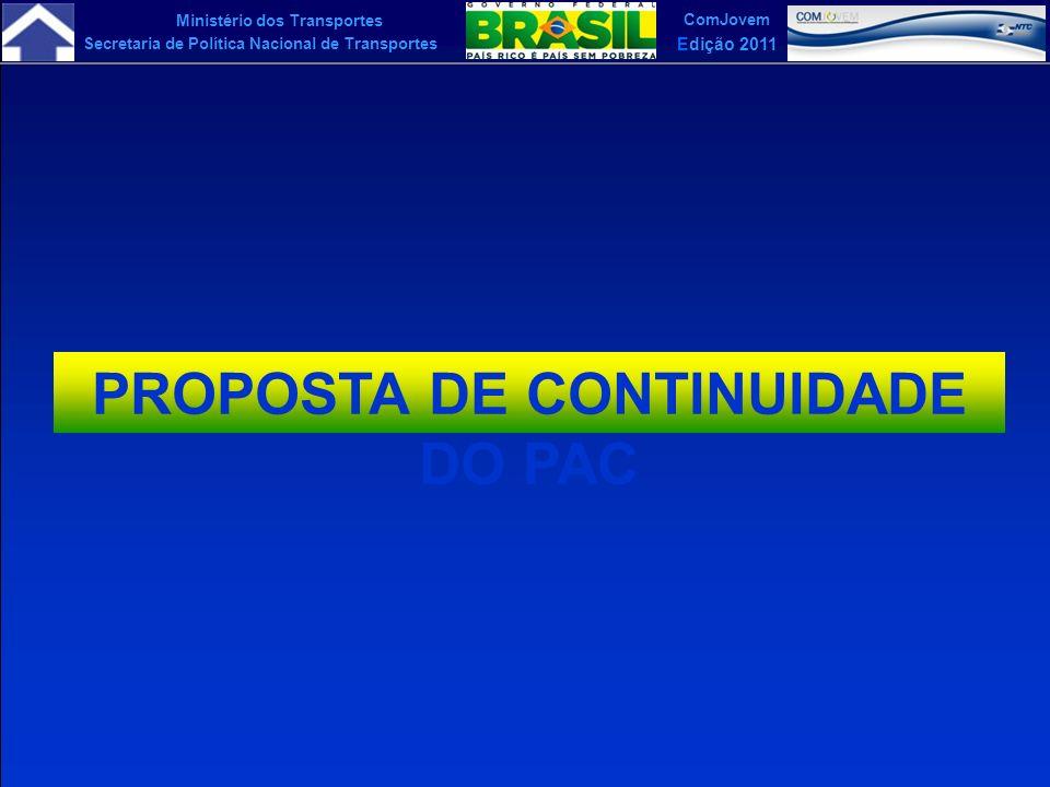 PROPOSTA DE CONTINUIDADE DO PAC