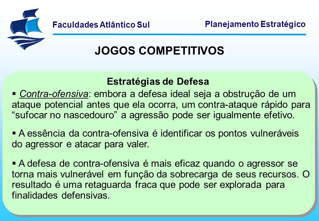 JOGOS COMPETITIVOS Estratégias de Defesa