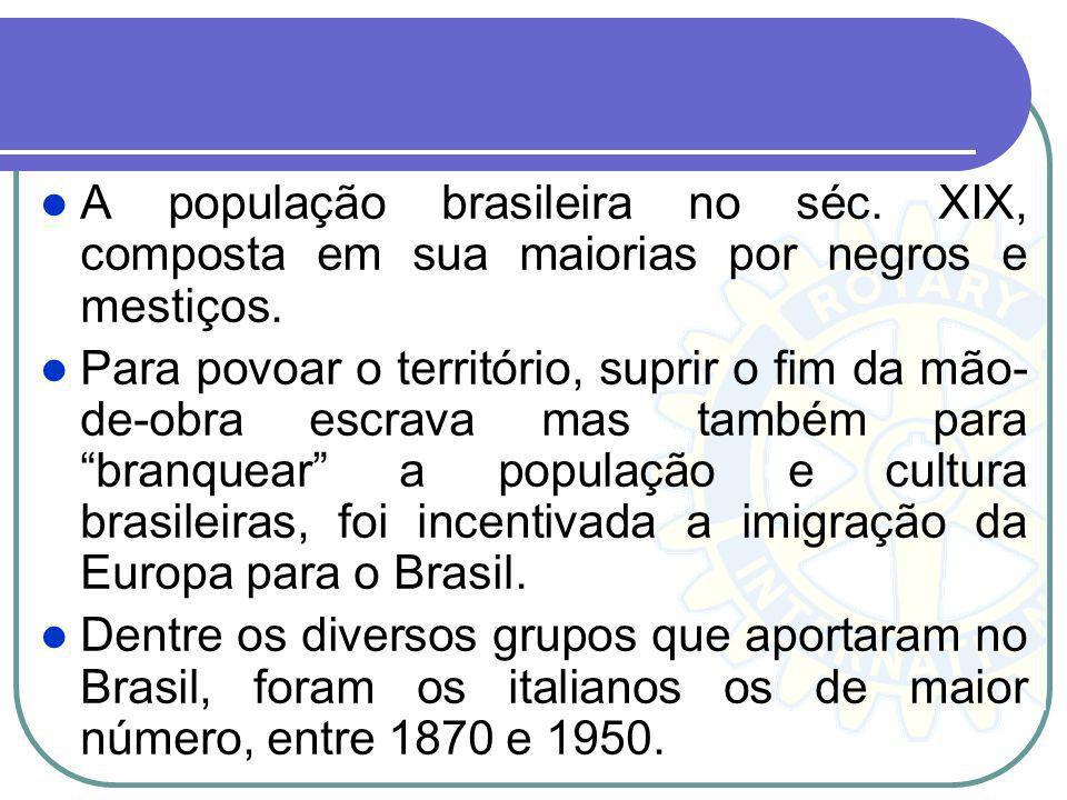 A população brasileira no séc