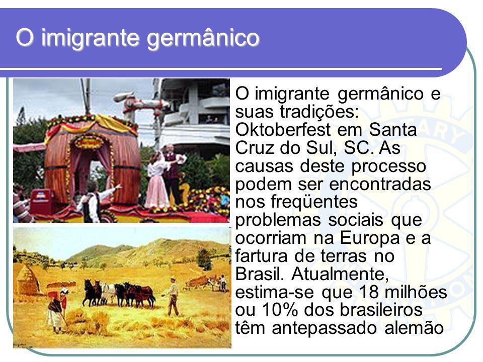 O imigrante germânico