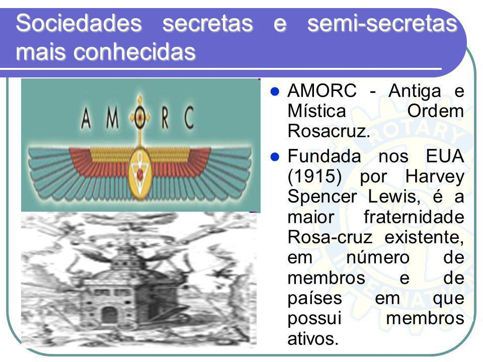 Sociedades secretas e semi-secretas mais conhecidas