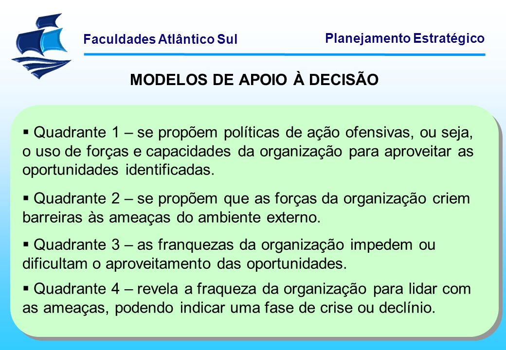 MODELOS DE APOIO À DECISÃO