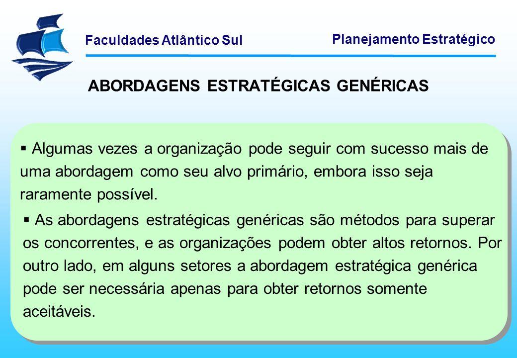 ABORDAGENS ESTRATÉGICAS GENÉRICAS
