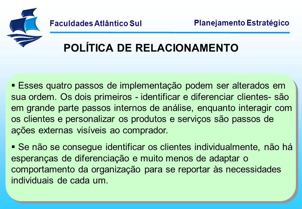 POLÍTICA DE RELACIONAMENTO