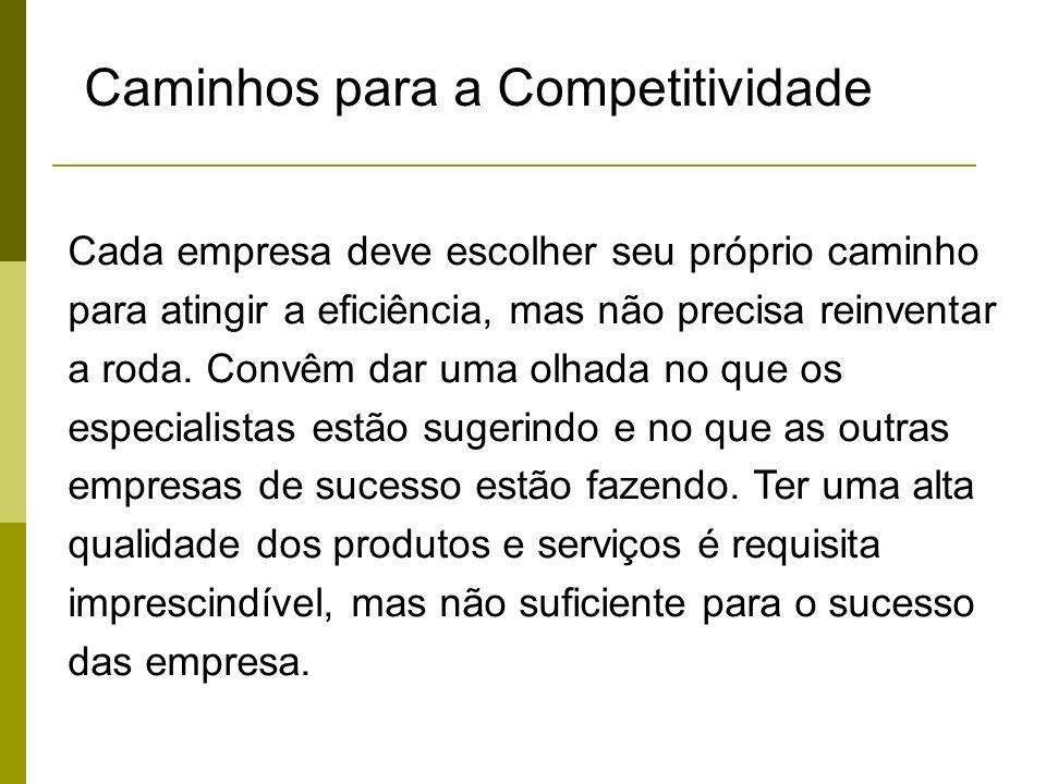 Caminhos para a Competitividade