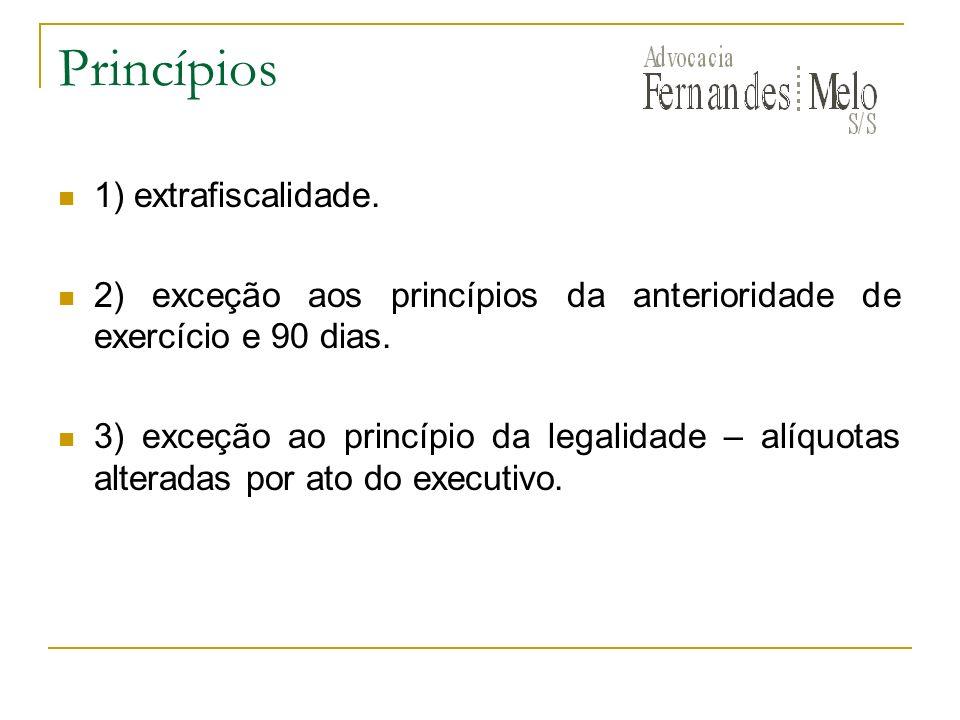 Princípios 1) extrafiscalidade.