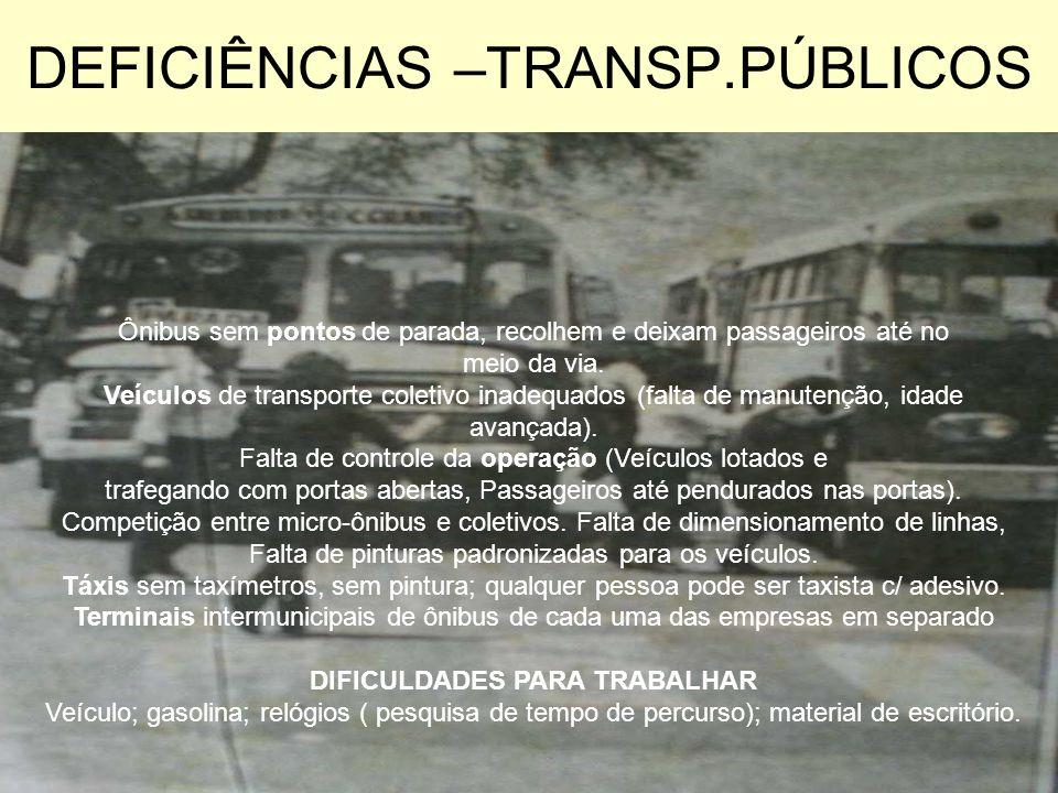 DEFICIÊNCIAS –TRANSP.PÚBLICOS
