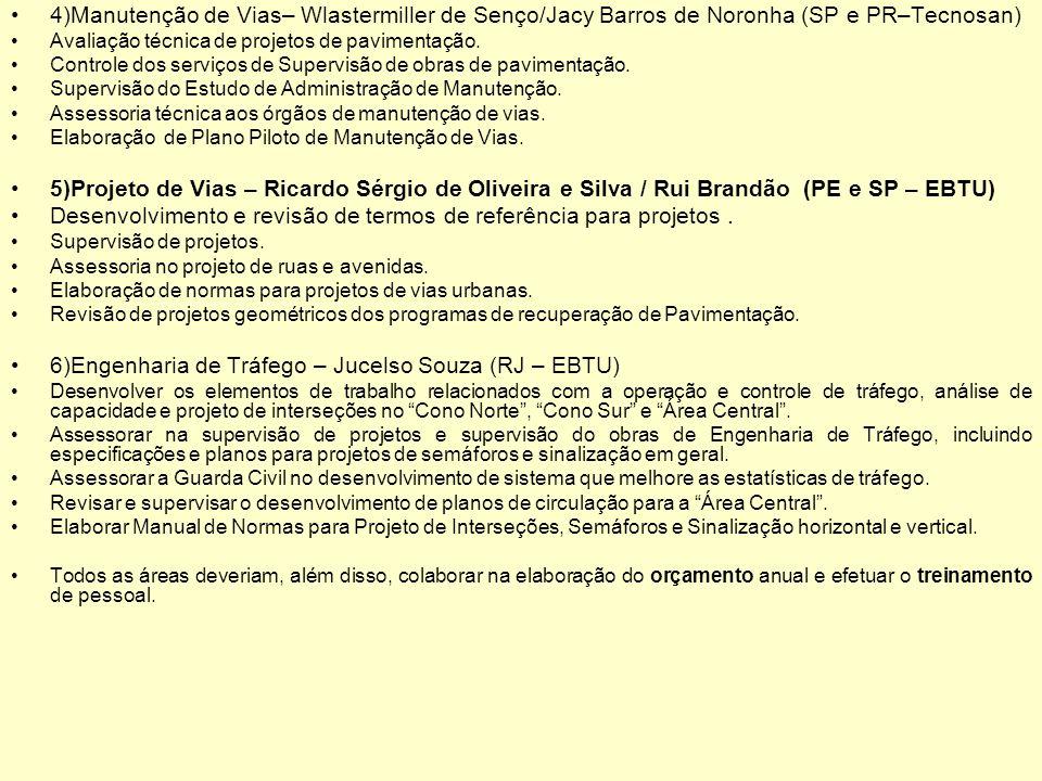 Desenvolvimento e revisão de termos de referência para projetos .