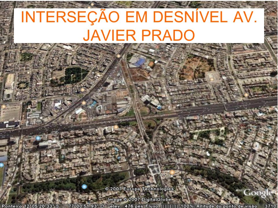 INTERSEÇÃO EM DESNÍVEL AV. JAVIER PRADO