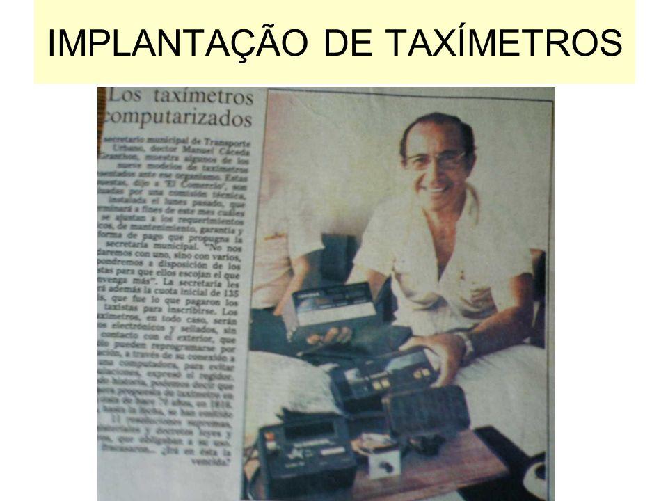 IMPLANTAÇÃO DE TAXÍMETROS