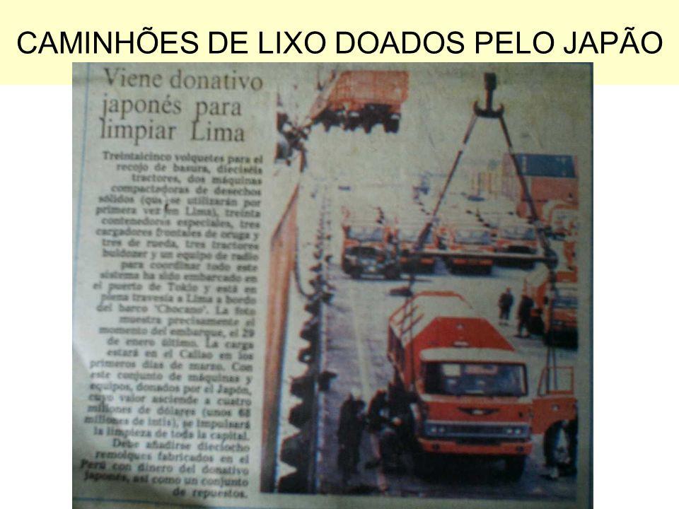 CAMINHÕES DE LIXO DOADOS PELO JAPÃO