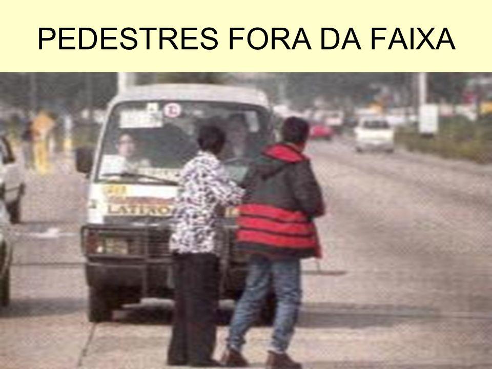 PEDESTRES FORA DA FAIXA